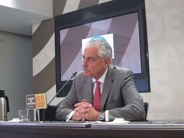 El portavoz de Hacienda del PP Aragón, Antonio Suárez.