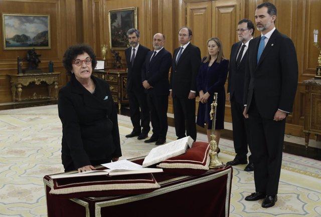 María Luisa Balaguer promete su cargo como nueva magistrada del Constitucional