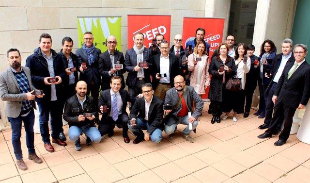 Celdrán, Junto A Los Representantes De Las 15 Empresas Que Participan