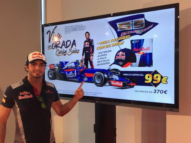 Carlos Sainz jr., piloto de fórmula 1