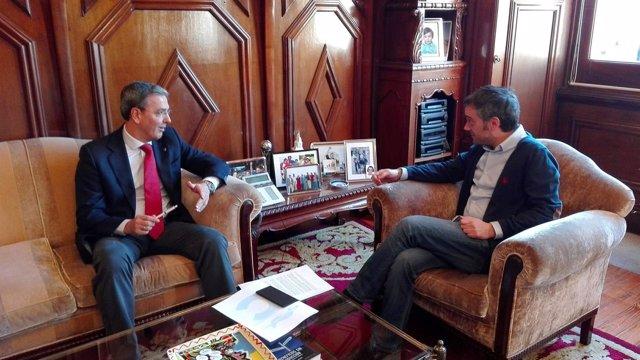 Reunión del PSOE de A Coruña con el alcalde.
