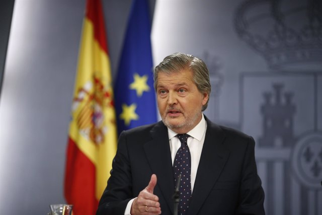 Iñigo Méndez de Vigo en la rueda de prensa tras el Consejo de Ministros