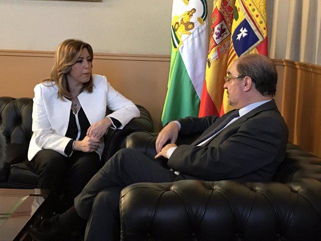 Javier Lambán y Susana Díaz