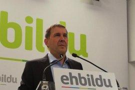 Otegi espera que España y Francia no obstaculicen en desarme  y pide la implicación del Gobierno vasco