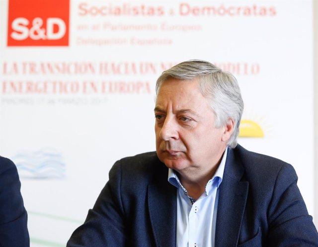 El eurodiputado del PSOE José Blanco, en unas jornadas en Madrid