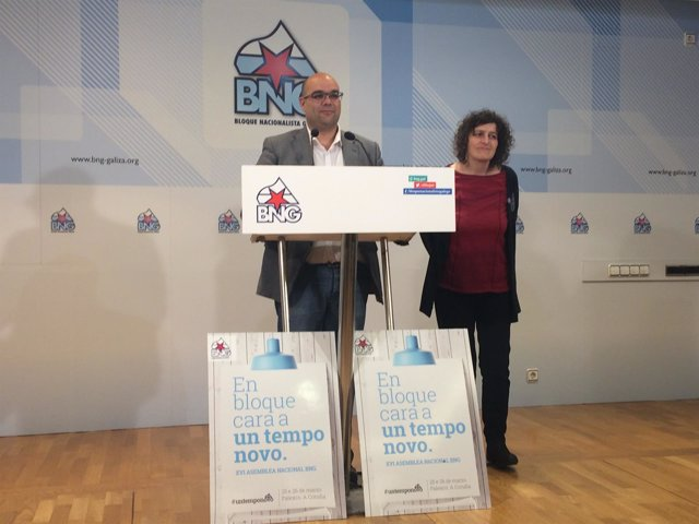 Rubén Cela y Goretti Sanmartín en la rueda de prensa de este viernes