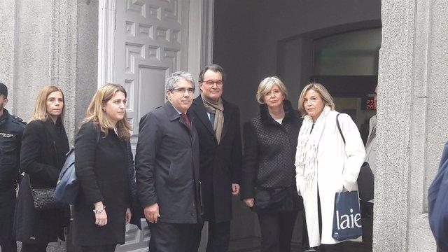 Artur Mas llega al Tribunal Supremo para declarar como testigo