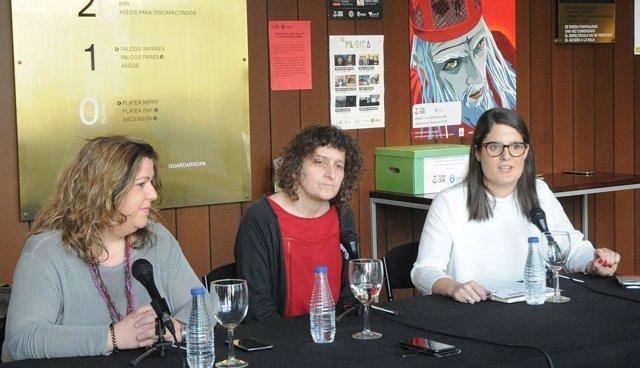 Goretti Sanmartín y Rocío Fraga en rueda de prensa