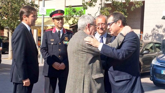 Jordi Jané en el homenaje al mosso Santos Santamaría asesinado por ETA