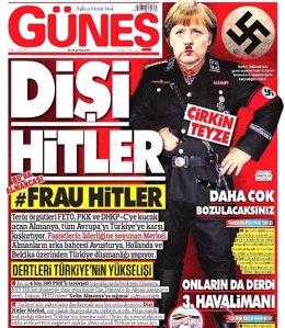 Portada de Gunes dedicada a Angela Merkel