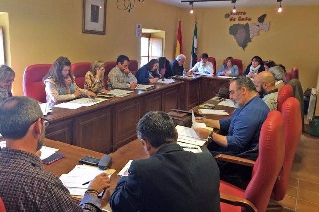 Reunión del Parque Cultural Sierra de Gata en Hoyos (Cáceres)