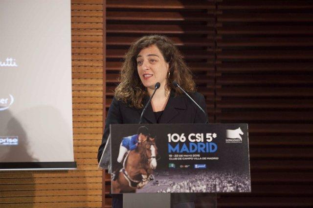 Celia Mayer en rueda de prensa