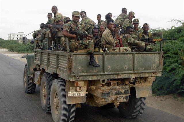 Efectivso del Ejército de Etiopía.