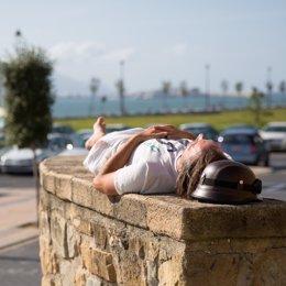 Siesta, durmiendo al aire libre