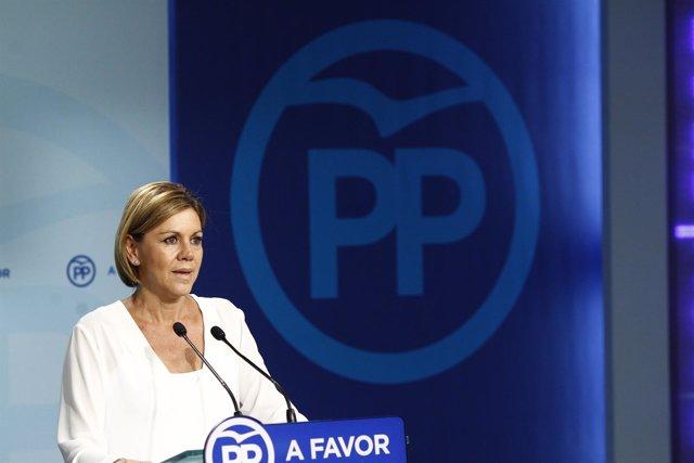 Cospedal tras las elecciones vascas y gallegas