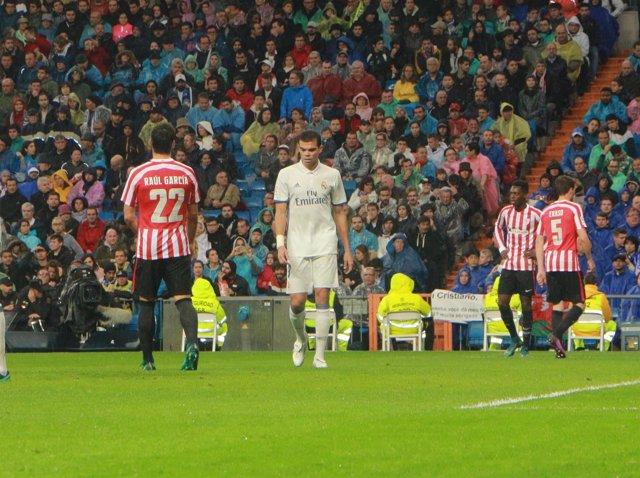 Pepe, Real Madrid contra el Bilbao la Liga