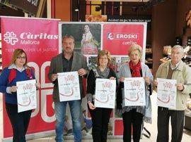 Cáritas, Eroski y Rotary Club presentan la campaña 'Compromís per la dignitat'