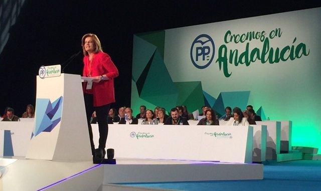 La ministra Fátima Báñez en la apertura del XV Congreso Regional del PP-A