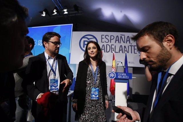 Andrea Levy, durante el Congreso del PP