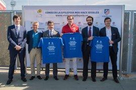 Fútbol.- Godín, protagonista de la campaña apoyada por la Fundación Atlético de Madrid sobre la epilepsia