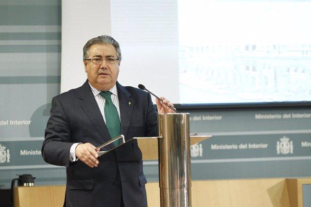 Juan Ignacio Zoido , presenta el informe estadístico sobre desaparecidos