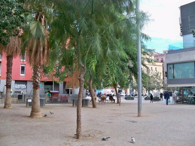 Vista de la plaza Salvador Seguí, en Ciutat Vella (Barcelona)