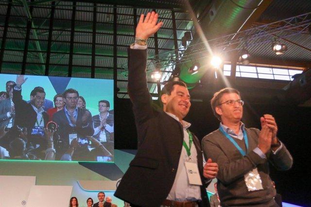 Moreno y Núñez Feijóo en el Congreso Andaluz