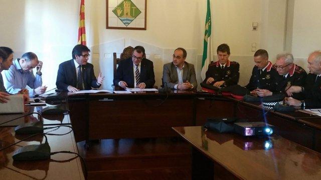 Jordi Jané asiste a la Junta Local de Seguridad de Martorell
