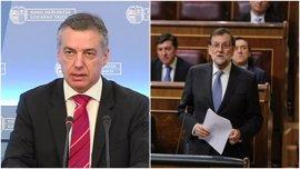 Urkullu mantuvo contactos con Mariano Rajoy sobre los planes de desarme de ETA