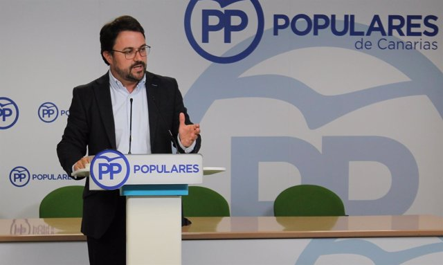 El presidente del PP de Canarias, Asier Antona