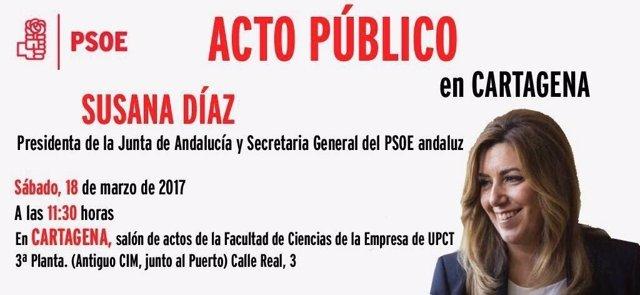 Acto Susasan Díaz en Cartagena