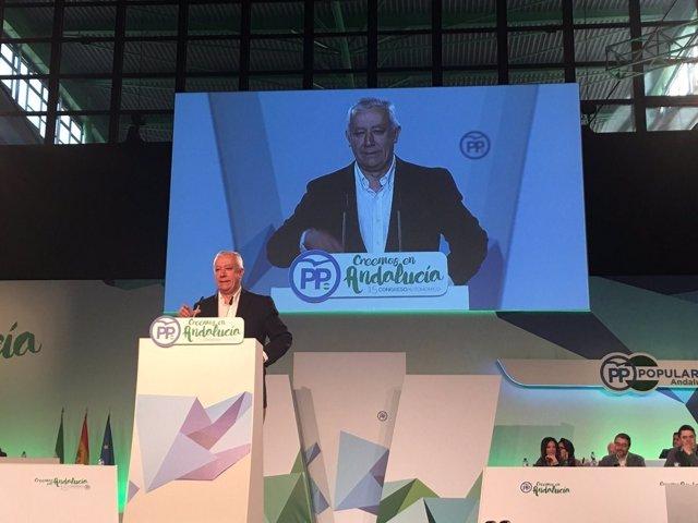 Javier Arenas, en el Congreso Regional del PP-A