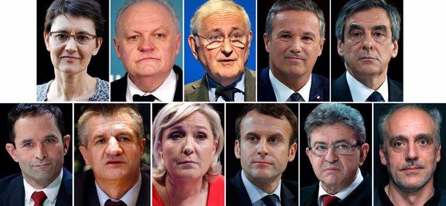 Candidatos a las elecciones presidenciales de Francia 2017