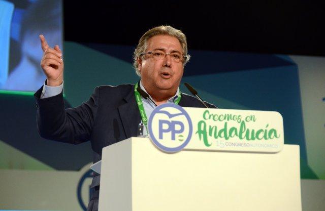 Juan Ignacio Zoido en el Congreso del PP-A