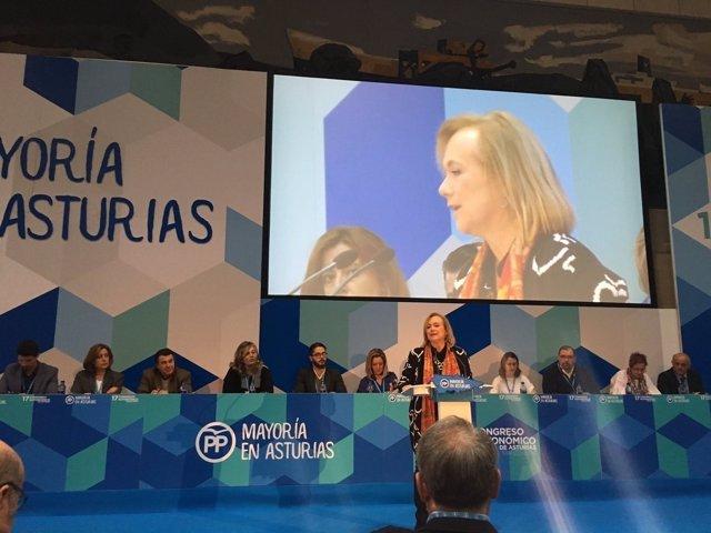 Mercedes Fernández, en el Congreso Regional.