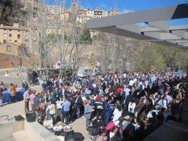 Comida soleada con vistas a Cuenca para cerca de los mil asistentes que participan en el XIII Congreso del PP de C-LM