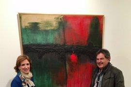 El artista Miguel Ángel Campo muestra sus pinturas en la sala de exposiciones Ibercaja