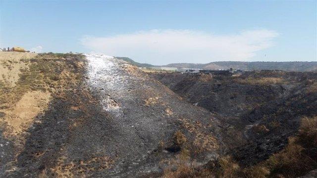 Monte quemado