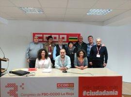 Javier Morentín, reelegido secretario general de la FSC de CCOO de La Rioja, con el apoyo del 100 por ciento