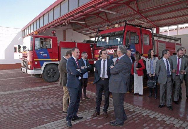 Inauguración de la ampliación del parque de bomberos de Villafraca de los Barros