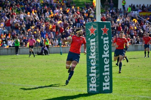 La selección española de rugby derrota a Bélgica en el Europeo de Naciones