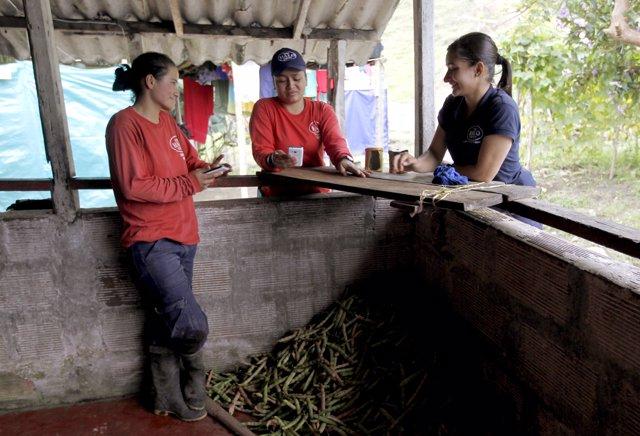 Mujeres trabajadoras en Colombia
