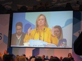 Mercedes Fernández, reelegida presidenta del PP de Asturias con el 96% de los compromisarios