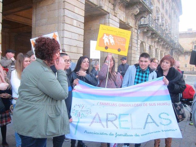 Concentración en defensa de las personas transgénero