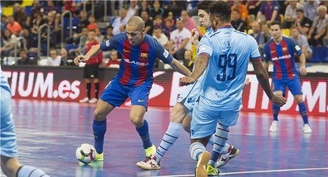 Ferrao, del Barça Lassa, en el partido ante el Levante