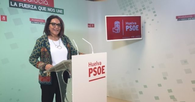 La diputada nacional Pepa González Bayo en rueda de prensa