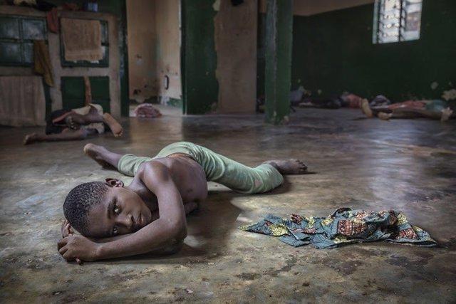 Niños se recuperan en un centro para menores que han sufrido esclavitud infantil