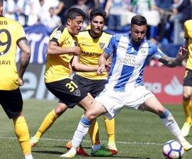 Leganés y Málaga empatan y pierden la oportunidad de distanciarse del descenso