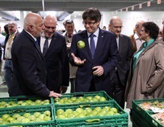 Carles Puigdemont en la Inauguración del nuevo almacén del Grupo Bonpreu