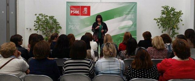 La presidenta del PSOE-A, Micaela Navarro, en un acto en Sevilla